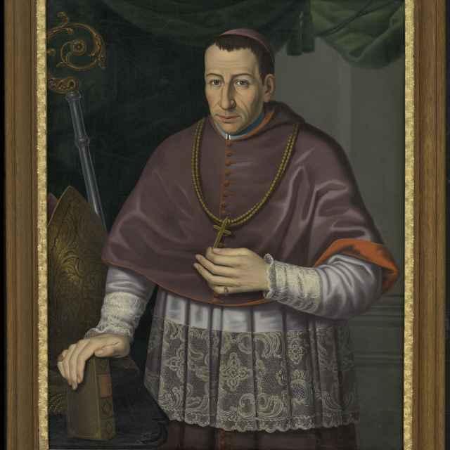 Olejomaľba, portrét rožňavského biskupa Andrássyho
