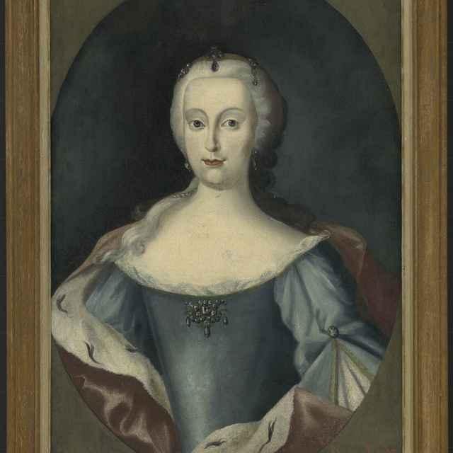 Szilassy, Ján. Mladá cisárovná Mária Terézia. 1743, olej na plátne - Silaši, Ján