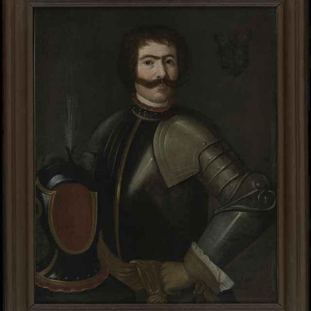 Obraz, olej na plátne, Podobizeň muža v brnení