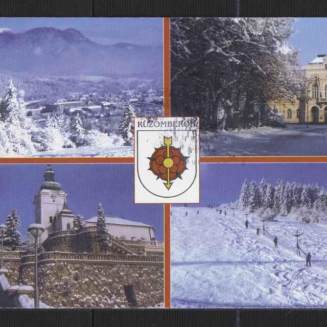 Pohľadnica farebná - Ružomberok a okolie v zime