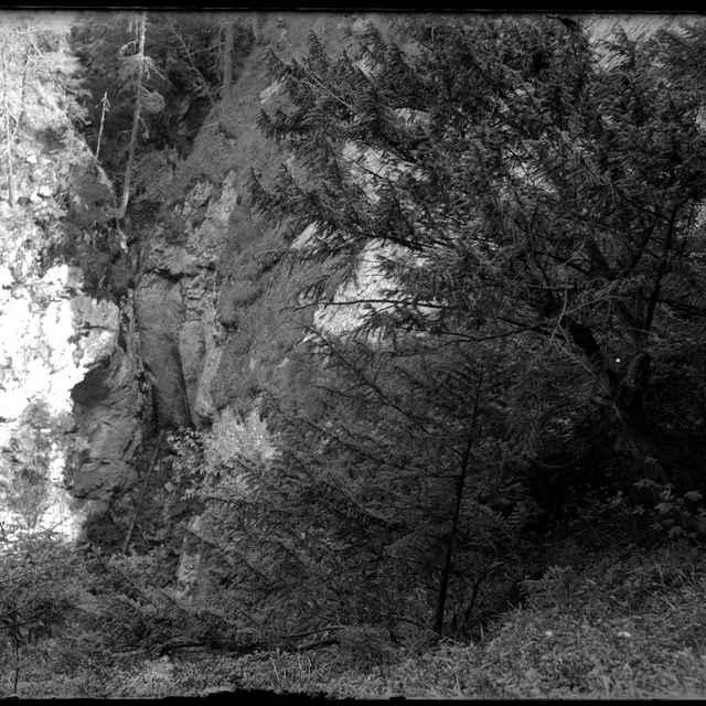Demänovská jaskyňa okno (negatív) - Benický, Vojtech