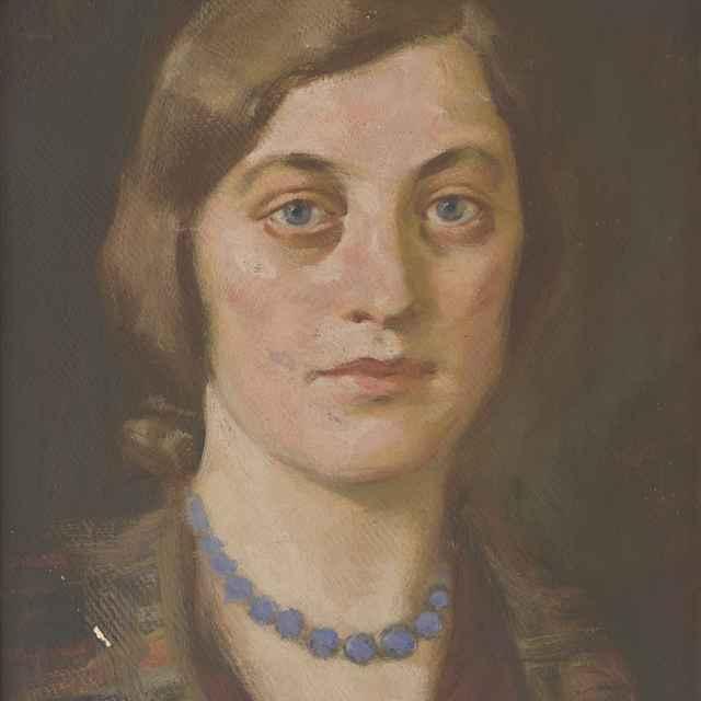 Mladá žena s modrým náhrdelníkom - Mitrovský, Milan Thomka