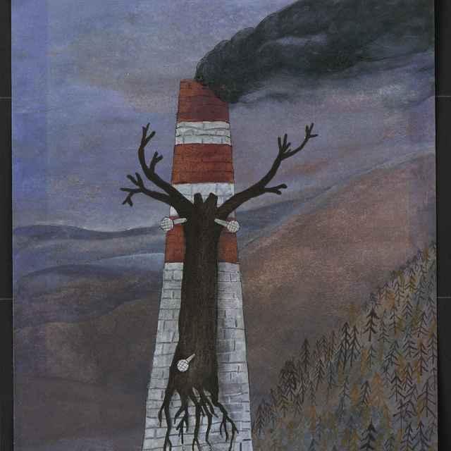 Kresba Andreja Mišánka z Popradu