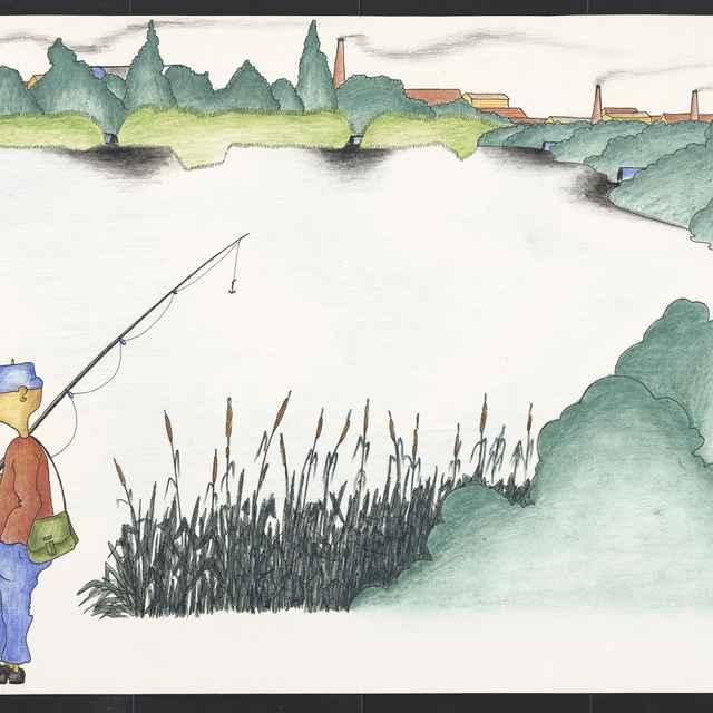 Kresba Mariána Súkeníka z Bánoviec n. Bebr.