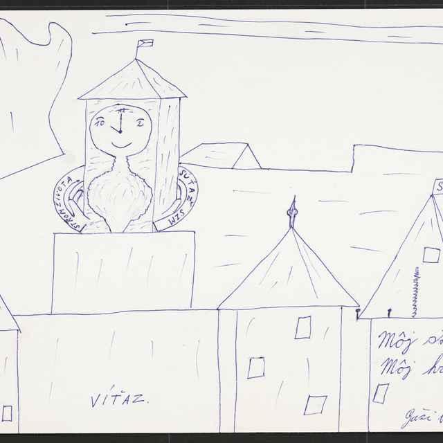 Kresba Vladimíra Gažiho z Novej Dubnice