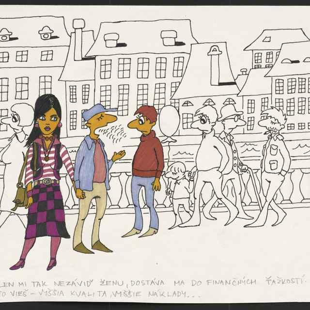 Kresba Mariana Hájka z Bratislavy
