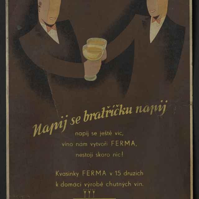 Reklamná tabuľa kartónová FERMA - Muzeálny objekt