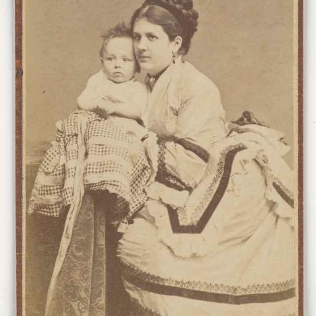 Portrét matky s dieťaťom - Löwy, Jozef