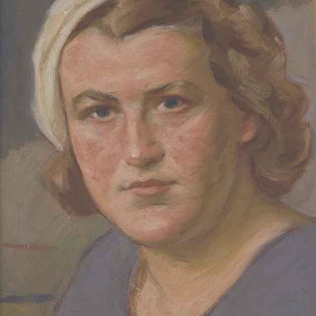 Hlava ženy v bielej baretke - Mitrovský, Milan Thomka