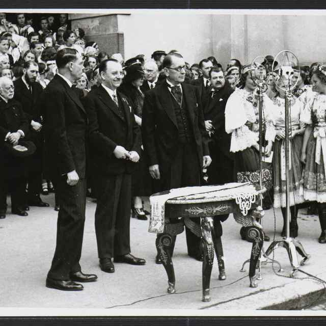 Fotografia čiernobiela - Pietny akt T.G.Masaryk, 1935 - Tatár, Július