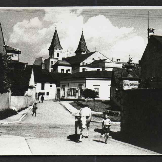 Fotografia čiernobiela - Partizánska ulica v Žiline, 1930-1936 - Tatár, Július