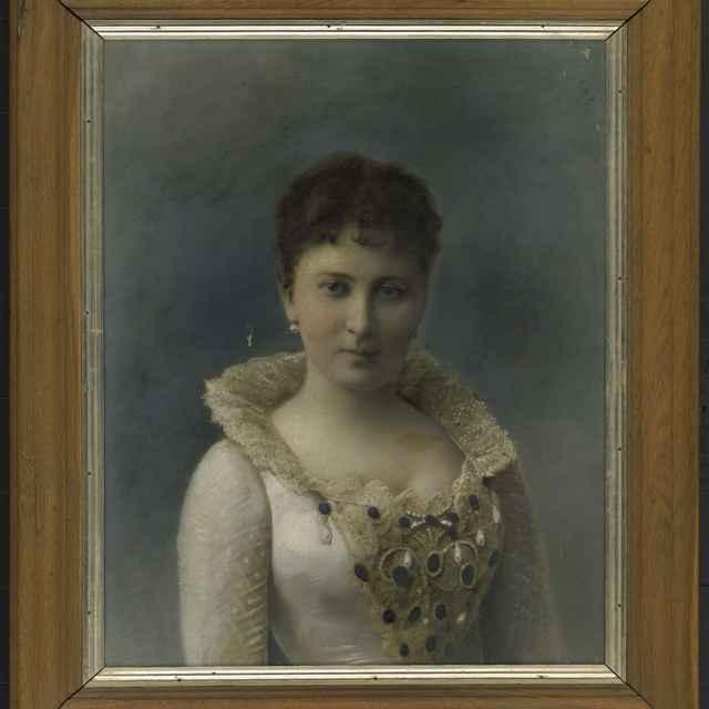 Obraz, olej na plátne, Podobizeň grófky Irmy Andrássyovej