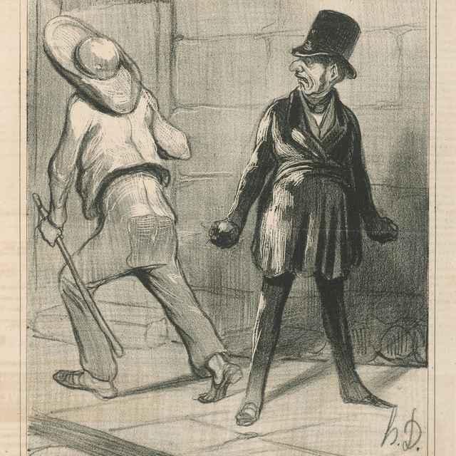 Čierne a biele - Daumier, Honoré