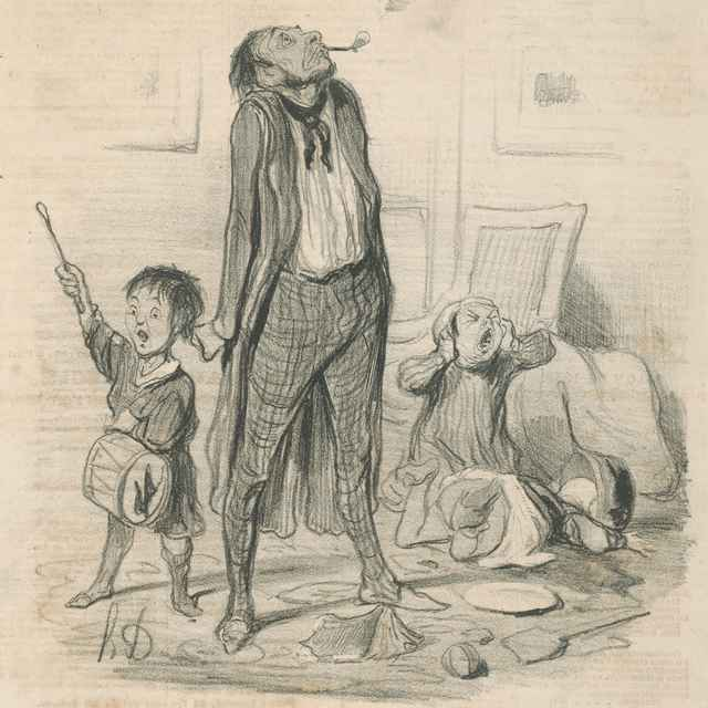 Básnikove ťažkosti - Daumier, Honoré
