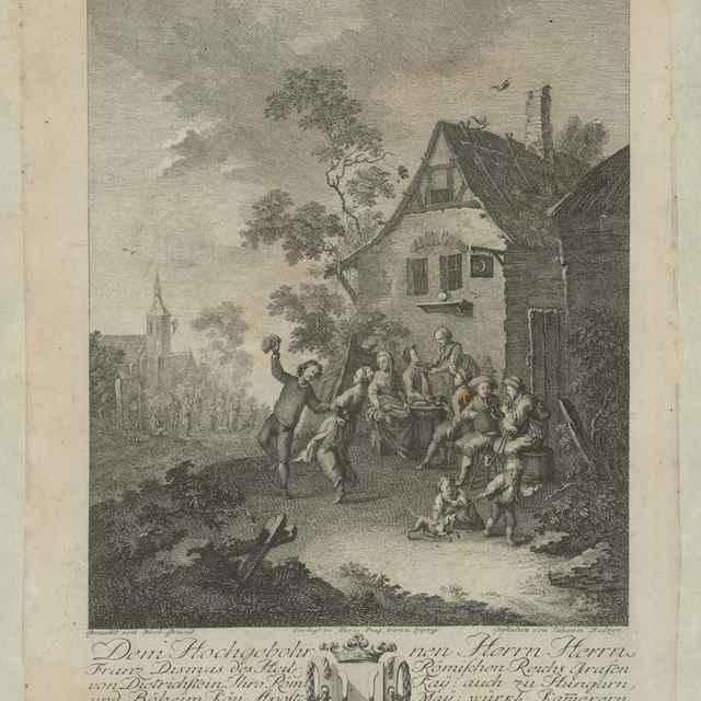 Tanec pred dedinským hostincom - Grund, Norbert Joseph Carl
