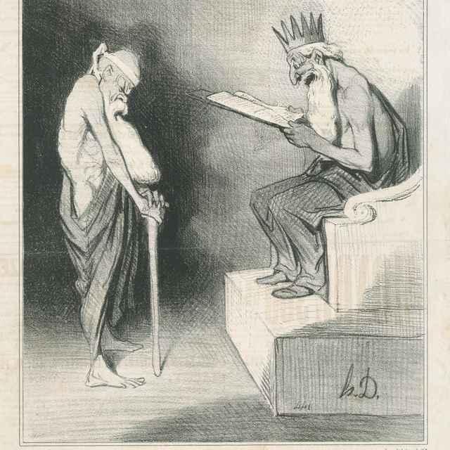 Milostivý Minos - Daumier, Honoré