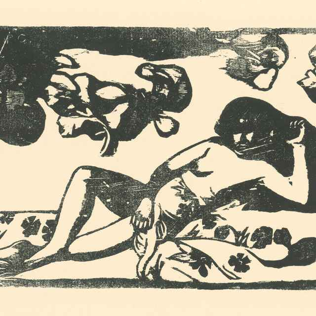 Ležiaca Tahiťanka - Gauguin, Paul