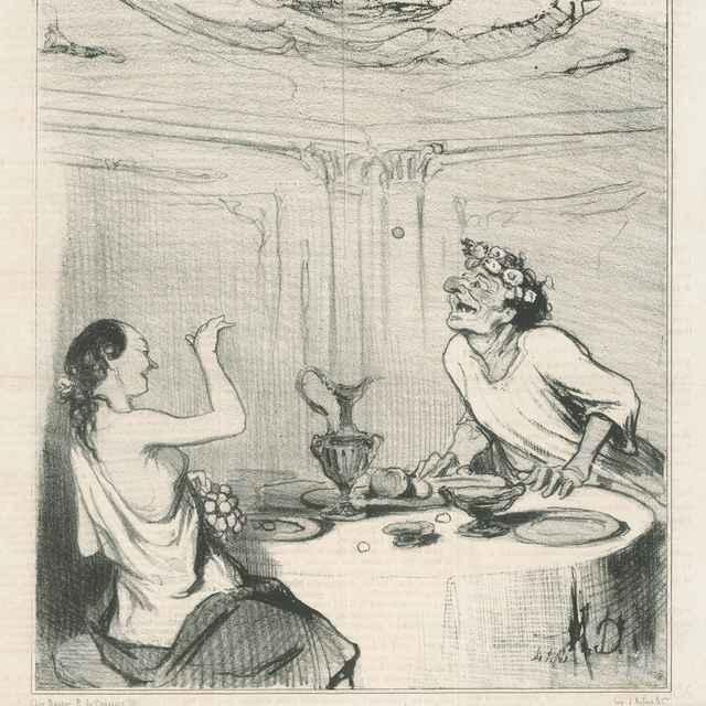 Anacreontova smrť - Daumier, Honoré