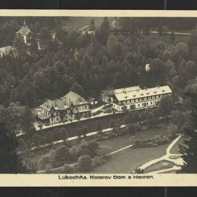 Fotopohľadnica: Ľubochňa - Kúpele, Kollárov dom a Dom Havran