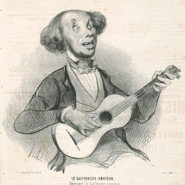 Amatér - hráč na gitare - Daumier, Honoré