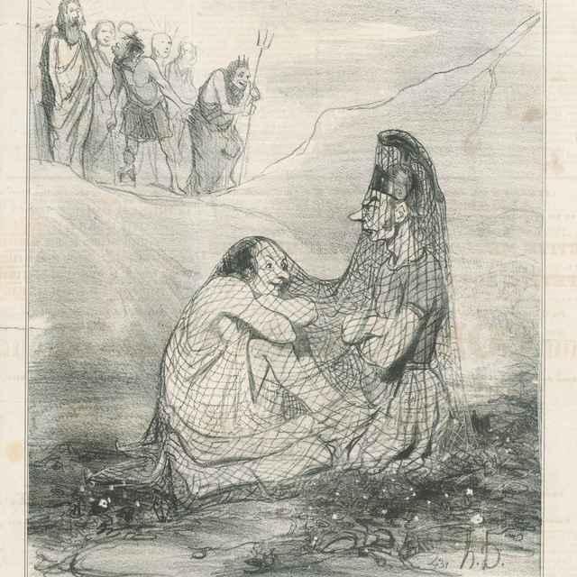 Mars a Venuša - Daumier, Honoré
