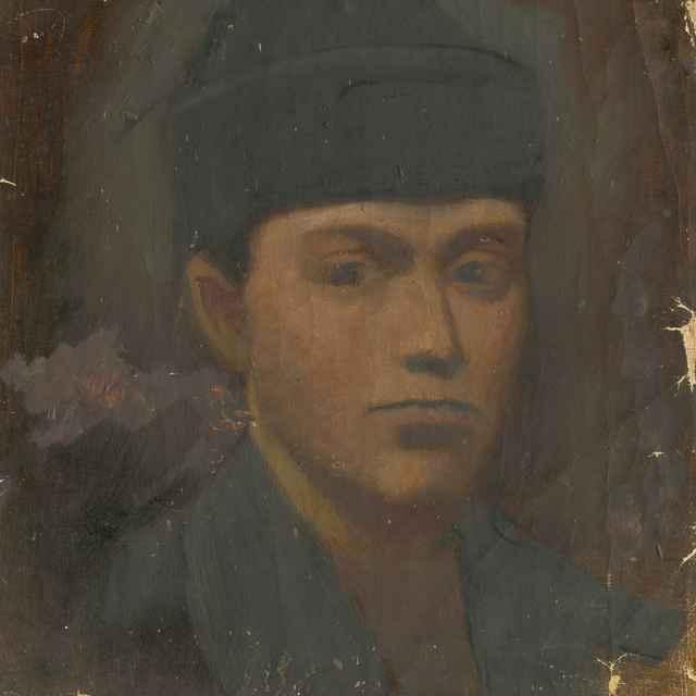 Hlava chlapca v čiernej baranici - Mednyánszky, Ladislav