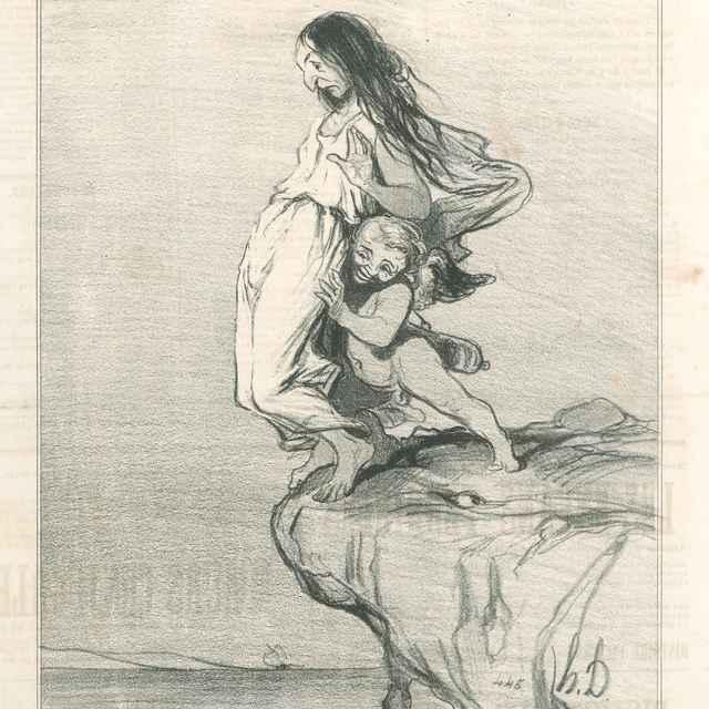 Smrť Sapfo - Daumier, Honoré