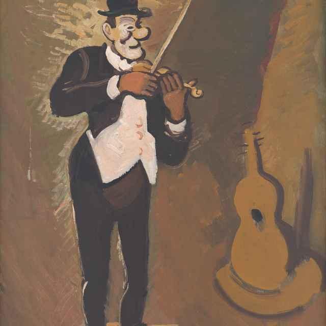 Clown hrajúci na husliach - Majerník, Cyprián
