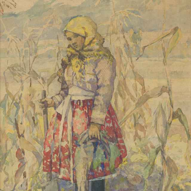 Žena v kukurici - Frolka, Josef