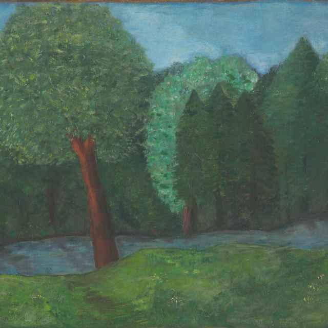 Stromy pri Turčianských Tepliciach - Galanda, Mikuláš - Výtvarné umenie