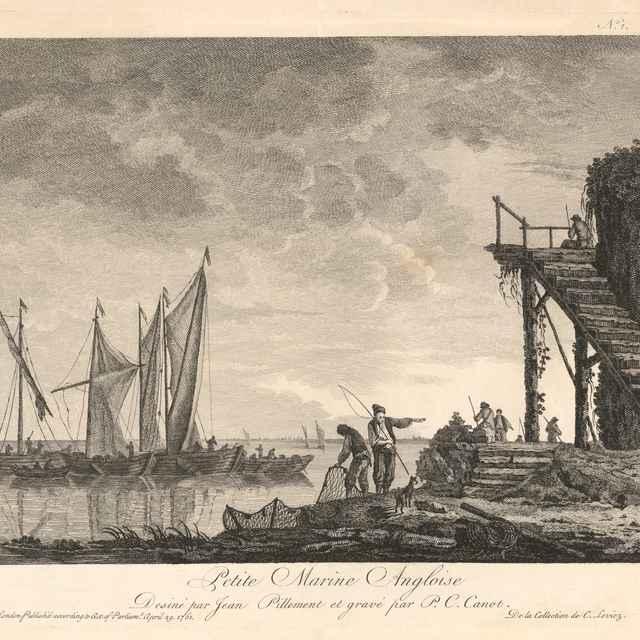 Malá anglická marina - Canot, Pierre Charles