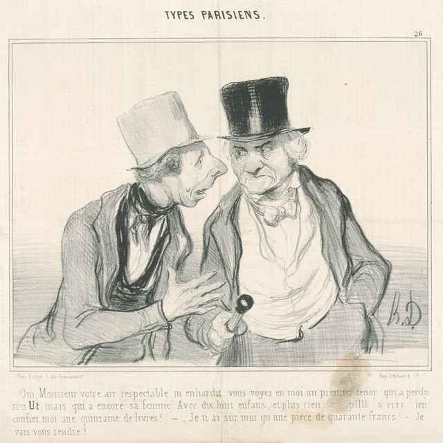 Rozhovor mužov - Daumier, Honoré