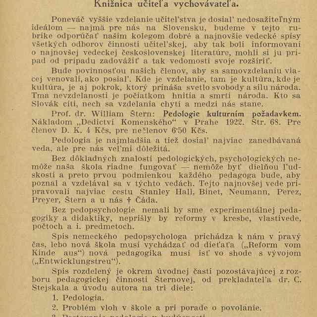 Knižnica učiteľa vychovávateľa - Vlček, Ľudevít