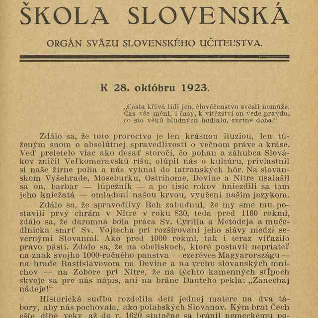 K 28. októbru 1923 - G.