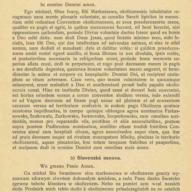 OKOLIČIANSKA LISTINA Z ROKU 1435. - Klimo, Bohuslav