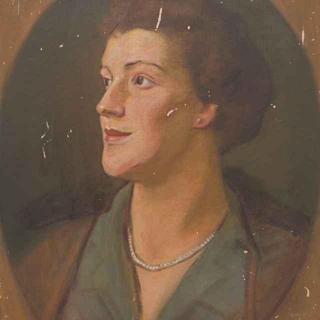 Hlava ženy s perlovým náhrdelníkom - Mitrovský, Milan Thomka