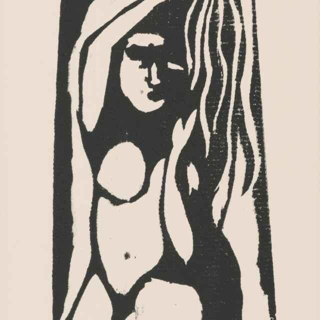 Kľačiace dievča - Gauguin, Paul