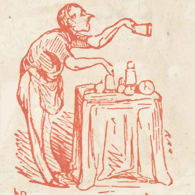 Pri stole - Daumier, Honoré