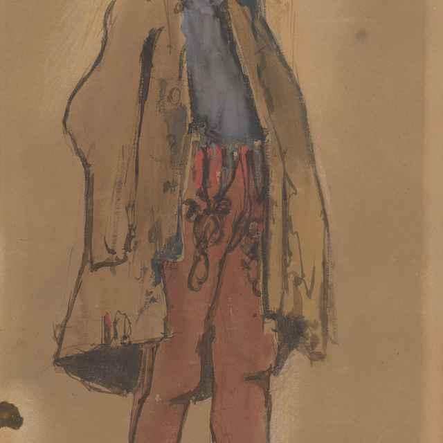 Štúdia stojaceho cigáňa - Mednyánszky, Ladislav