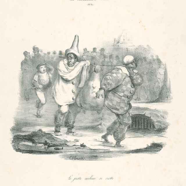 Le juste milieu se crotte - Traviès de Villers, Charles Joseph