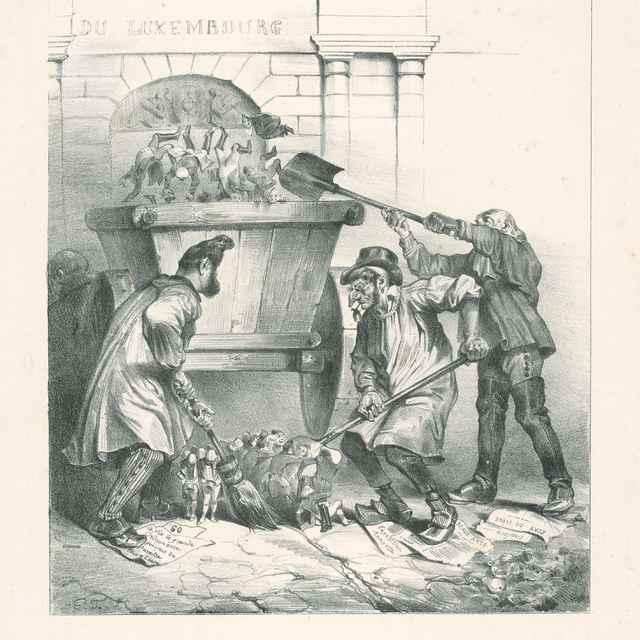 Odvoz smetí - Grandville, Jean Ignace Isidore
