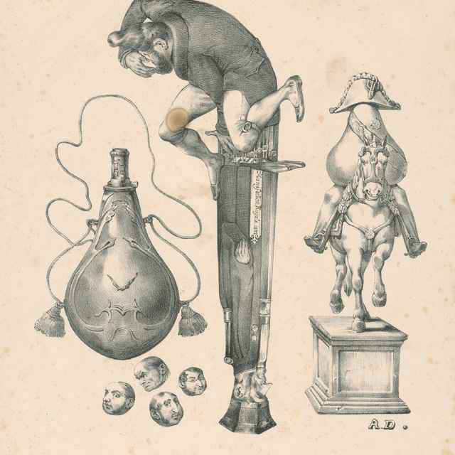 Pištoľ,mešec na prach a guľky... - Desperet, Auguste