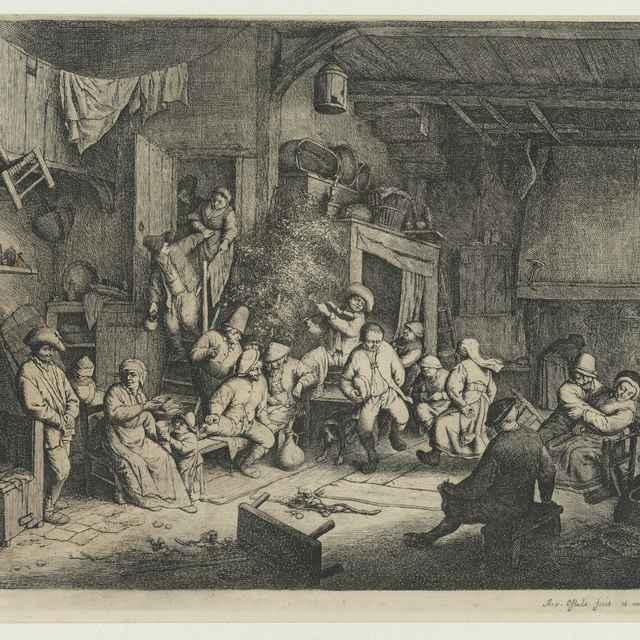 Sedliacky tanec v hostinci - Ostade, Adriaen van
