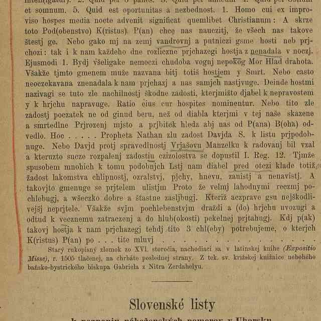 Slovenské listy k poznaniu náboženských pomerov v Uhorsku