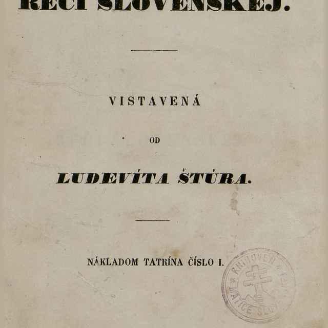 Nauka reči slovenskej - Štúr, Ľudovít