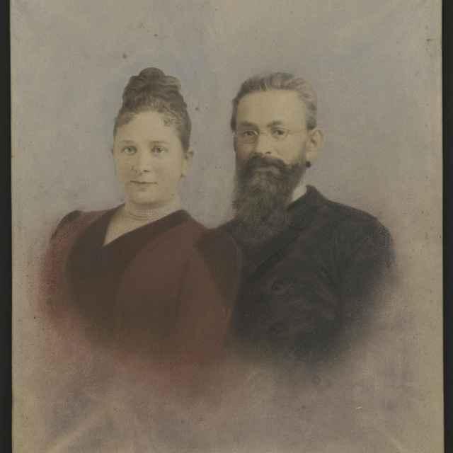 Obraz - kresba G.Kovats so ženou Fany 40 x 34 cm