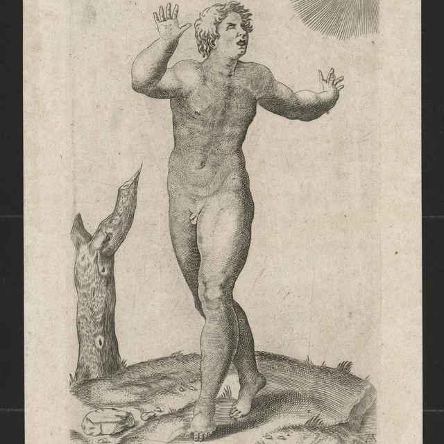 Tancujúci mladý muž.