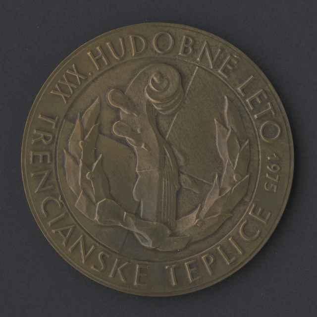medaila; 30. Hudobné leto Trenčianske Teplice 1975 - neznámy (osobné meno)