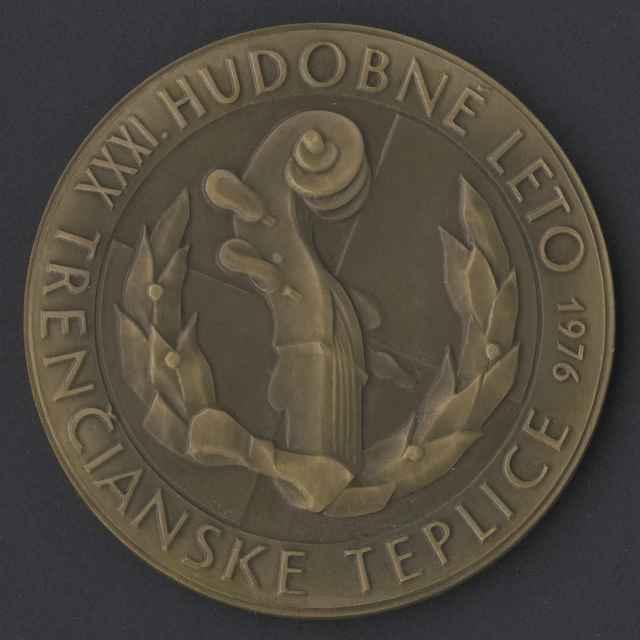 medaila; 31. Hudobné leto Trenčianske Teplice 1976 - neznámy (osobné meno)