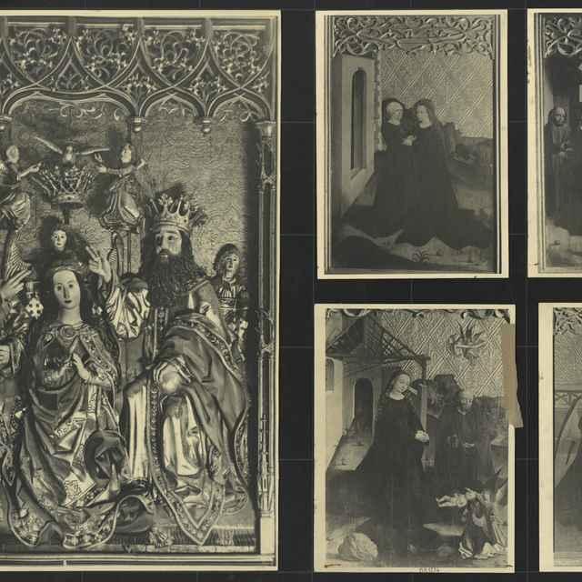 Fotografie tabúľ oltára v zápoľského kaplnke v Spišskej Kapitule - Bauer Siegbert
